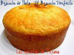 """Las recetas de Triana: Bizcocho de Nata....""""El Bizcocho Perfecto"""""""