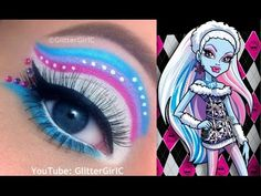 Monster High's Abbey Bominable Makeup Tutorial. Youtube channel: full.sc/SK3bIA