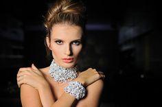 Beautiful wedding statement necklacehandmade by Lottaart on Etsy, $95.00