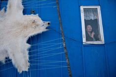 """London-based photographer Ciril Jazbec has been documenting the changing lives of the Inuit people in Greenland for five years. Here are images from his ongoing project, which he calls """"Melting Away. Inuit People, British Journal Of Photography, On Thin Ice, Ice Sheet, Rule Of Thirds, Documentary Photography, National Geographic, Polar Bear, Climate Change"""