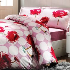 Exclusive, our decorative boudoir sateen duvet set is crafted from our customer favorite Turkish combed cotton sateen. Duvet Sets, Duvet Cover Sets, Home Textile, Bed Sheets, Comforters, Pillow Cases, Modern Design, Floral Design, Textiles