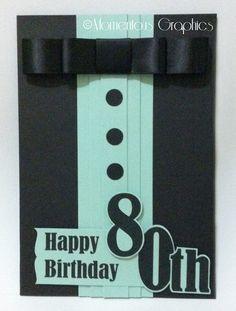 80th Birthday Card or invitation
