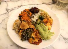 Health plant-based food at Ethos, London