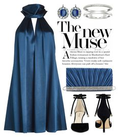 """""""Feeling Blue 4304"""" by boxthoughts ❤ liked on Polyvore featuring Galvan, Nine West, Gunne Sax By Jessica McClintock and Shinola"""