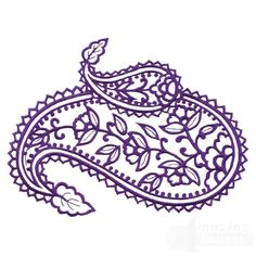 pictures of paisley designs | Paisley Outline