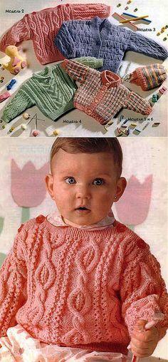 Suéteres y blusas para bebés. Knitting | manos hábiles