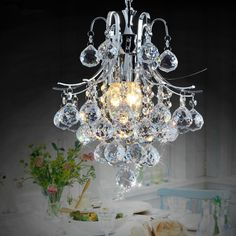 Crystal material,Chandelier,3-light