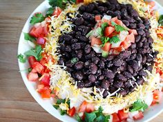 Mexican Volcano Dip is like the traditional seven-layer dip. but better! Yummy Appetizers, Appetizers For Party, Appetizer Recipes, Appetizer Ideas, Party Dips, Seven Layer Dip, Cooking Recipes, Healthy Recipes, Savoury Recipes