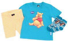Radler, T-Shirt und Söckchen von #Trigema und #Disney mit #WinniethePooh in Gr. 104.