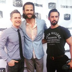 Pin for Later: There Was a Giant Gilmore Girls Reunion! See All the Cute Pictures Rory's three loves — Matt Czuchry, Jared Padalecki, and Milo Ventimiglia — lined up. Gilmore Girl Jess, Gilmore Girls Quotes, Rory Gilmore, Jared Padalecki Gilmore Girls, Milo Ventimiglia Gilmore Girls, David Sutcliffe, Gilmore Gilrs, Amy Sherman Palladino, Matt Czuchry