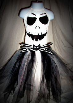 Jack Skellington inspired costume dress by GlitterprincessGalor