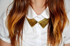 metal collar necklace in Topshop - double collar effect on a white shirt . All That Shirt, Collar Tips, Detachable Collar, Office Looks, Cool Necklaces, Collar Necklace, Fashion Details, Really Cool Stuff, Style Me
