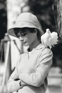 Audrey Hepburn during the filming of 'Two For the Road', 1967