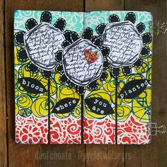 Three Blooms – Mixed Media Art Journal Page Art Journal Pages, Journal 3, Art Journals, Art Store, Altered Books, Travelers Notebook, Beautiful Patterns, Mixed Media Art, Stencils