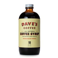 Dave's Coffee - All Natural Vanilla Coffee Syrup