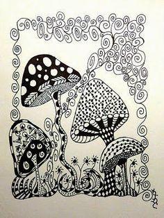 2) Zentangle flowers - Bilder Land