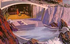 Ces peintures ont étés commandées par Motorola en 1961 pour imaginer le futur dans le cadre de leur campagne «Fresh from Motorola… new leader in the lively art of electronics» , c'était pas très inventif, tout le monde à l'air de danser, mais j'aime beaucoup les peintures.