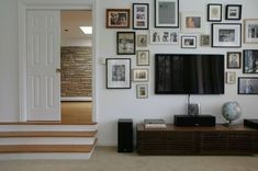 Composing a Gallery Wall Around the TV - AptTherapy