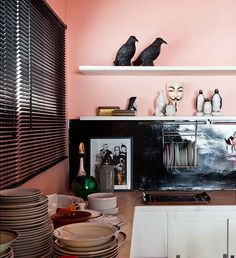 Nude pink kitchen