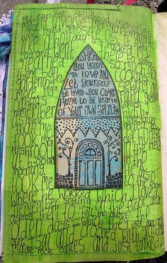 art journal...would be pretty for a Christmas carol...