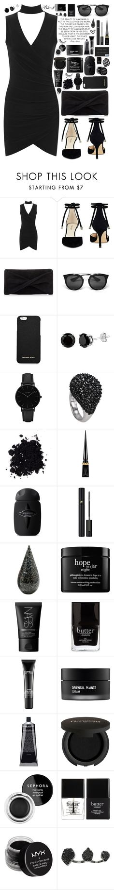 """""""Untitled #346"""" by anna-nedelcheva ❤ liked on Polyvore featuring WearAll, Nine West, Reiss, Prada, MICHAEL Michael Kors, CLUSE, Christian Louboutin, Lancôme, La Prairie and philosophy"""