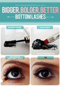 Boost those bottom lashes with this fab trick from The Beauty Department!