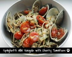 Spaghetti alla Vongole with Clams and Cherry Tomatoes