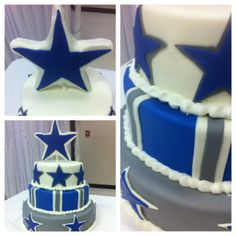 Dallas Groom's cake - This is a cake i made for my new brother in laws grooms cake. he's a cowboys fanatic. and thoroughly enjoyed the rice crisy star.. :)