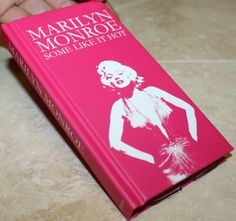 for Samsung Galaxy S4 i9500 Pink Marilyn Monroe Hard Book Cover Wallet Card Case