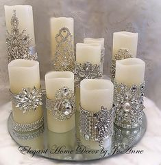 Conjunto de velas, flickering LED w Diy Candles, Scented Candles, Pillar Candles, Candels, Decorating Candles, Battery Candles, Glamour Decor, Christmas Crafts, Christmas Decorations