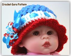 This crochet hat pattern is adorable and easy to make. It has great descriptive pictures and comes with links to video tutorials if you need help.