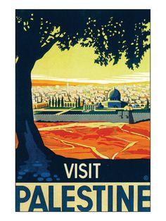Visit Palestine Premium Giclee Print by Franz Kraus at Art.com