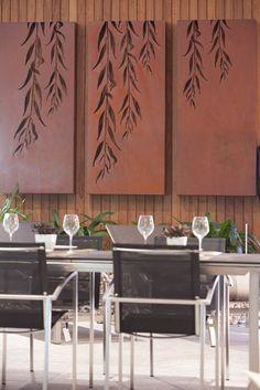 Декоративные панели и фигуры из металла для украшения стен. Art wall.