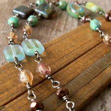 Boho Necklace, Boho Jewelry, Jewelry Shop, Turquoise Necklace, Beaded Jewelry, Jewelry Design, Necklace Ideas, Jewelry Ideas, Jewlery