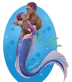 """kelleeart: """" day The greatest love I see, I see in you. If you can't tell, I've hit a fit of family inspiration! Black Mermaid, Mermaid Art, Tattoo Mermaid, Vintage Mermaid, Sirene Tattoo, Character Inspiration, Character Art, Mermaid Drawings, Mermaid Paintings"""