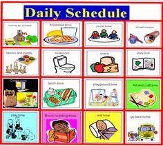 Free Preschool Picture Schedule | Daily Schedule