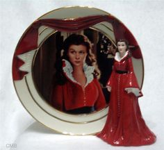 GONE WITH THE WIND REFLECTIONS OF SCARLETT SMOLDERING PASSION PLATE FIGURINE NEW