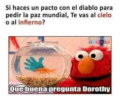 Que buena pregunta Dorothy xdxd Para más imágenes graciosas y memes en Español descarga a App https://www.huevadas.net/app o visita: https://www.Huevadas.net #momos #memes #humor #chistes #viral #amor #huevadasnet