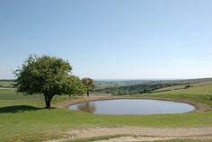 Dew Pond, Ditchling Beacon Ridge, Sussex, England