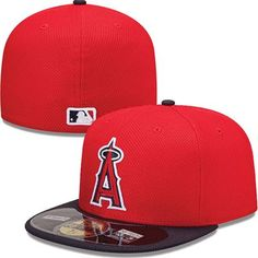 Los Angeles Angels of Anaheim New Era MLB Diamond Tech 5950 Fitted Hat (Red) b8794a10436