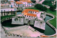 Castillo de La Real Fuerza, vista aérea. Cuba, Mansions, House Styles, Saint Christopher, Havana, Fortaleza, Strength, Castles, Museums