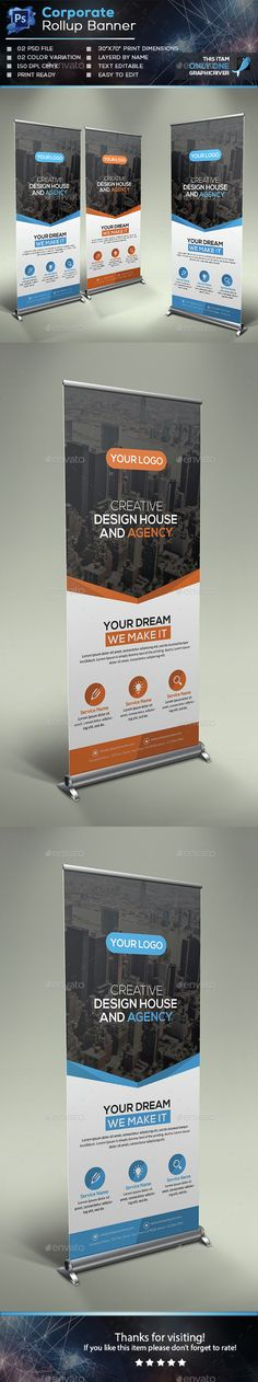 Corporate Roll-up Banner Template PSD. Download here: http://graphicriver.net/item/corporate-rollup-banner/15037761?ref=ksioks
