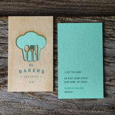 Jukebox Print | Wood/laser cut business cards with card stock backing.