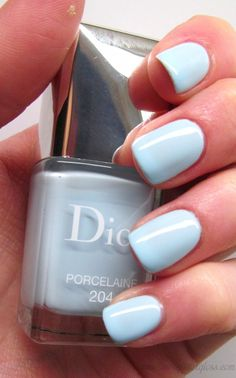 Dior Vernis in Porcelaine for Spring 2014  - I want this color, but I don't want to pay the price as I know that I will wear it only once.