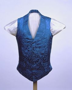Man's vest Unknown artist, Chinese, China Man's vest, ca. 1845 Silk; satin damask 75.026.16