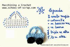 Scuola di Uncinetto: pattern macchinina a crochet