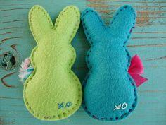 Felt Bunny Bums #easter