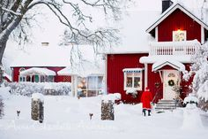 Christmas Eve on the Swedish countryside. There must be snow on Christmas!