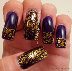Glittery Fingers & Sparkling Toes: Born Pretty Store Review: Arabesque Water Decals