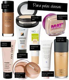 Bases para peles oleosas, normais e secas » Coisas de Diva
